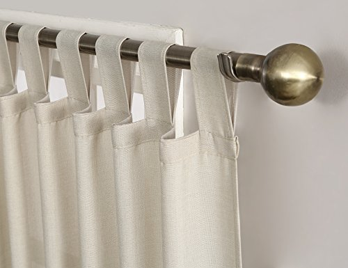 No. 918 Trevor Heathered Texture Semi-Sheer Tab Top Curtain Panel