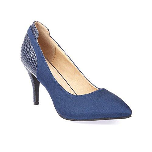 La Modeuse - Zapatos de vestir para mujer Azul