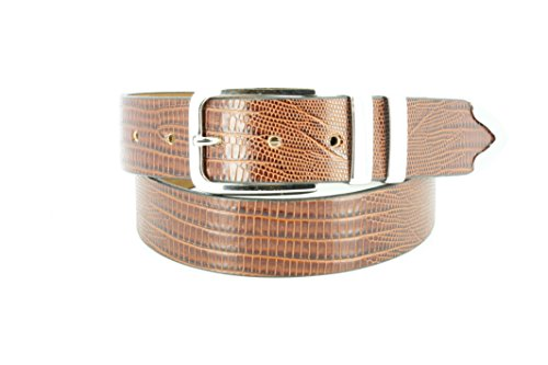 Remo Tulliani Men's 35mm Andre Embossed Italian Leather Dress Belt