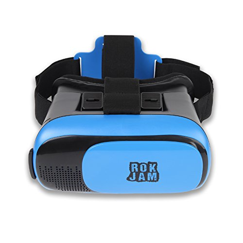 3D VR Headset Technology - Best Virtual Reality Experience For Games & Video - Watch Movies In Breathtaking HD With Your Smartphone Fit Glasses & Helmet - Goggles For Your iPhone & Android Smartphones by Rok Am