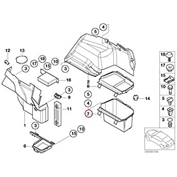 Amazon Com Bmw Genuine Lateral Trunk Floor Trim Panel Battery