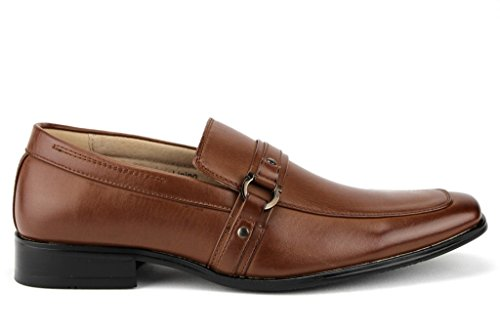 Designer Cognac Loafer On Slip Buckle Majestic Horsebit Shoes Men's Dress 37688 aPnqBE
