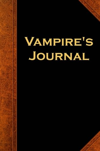 Vampire's Journal Vintage Style: (Notebook, Diary, Blank Book) (Scary Halloween Journals Notebooks Diaries)