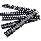 BINDING COMBS PLASTIC - BLACK 1-1/2IN 50 - 52368