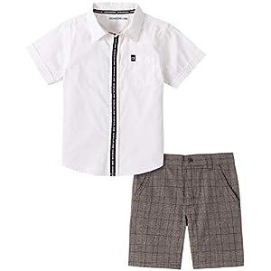 Best Epic Trends 41oscjwtlRL._SS300_ Calvin Klein boys 2 Pieces Shirt Shorts Set