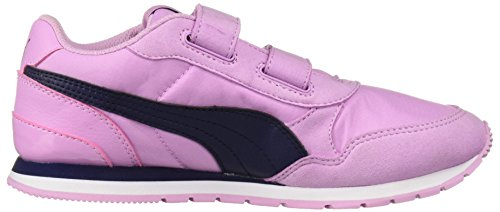 PUMA Unisex-Kids ST Runner NL Velcro Sneaker, Orchid-Peacoat, 2 M US Little Kid by PUMA (Image #7)
