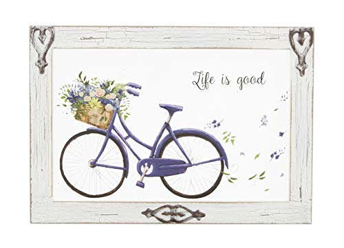 The Bridge Collection Rustic Window Pane Wall Art (Life is Good) (Windows Bridge Bicycle 7 For)