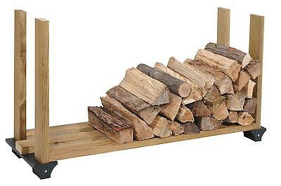 2x4basics Firewood Rack System, Black, 90144, Log Holder Storage Carrier, New by 2x4 Basics