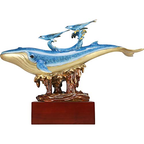 Whale Statue,Home Decor,Desktop Furnishing Articles,Tab Seri,Home Desktop Decor,Suitable for Living Room,Office,Best Business Gifts.
