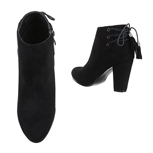 Ital-Design - Botas plisadas Mujer negro