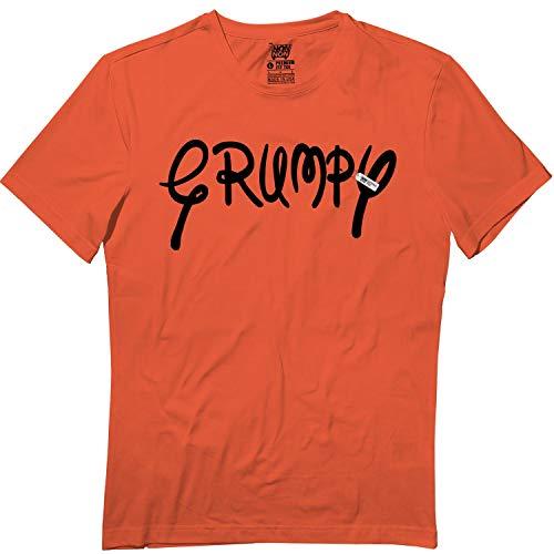 Grumpy Dwarf Text Halloween Family Matching Team Group Tshirt Orange]()