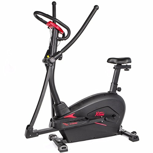 2in1 Cardio Dual Trainer Elliptical Workout stationary Ex...