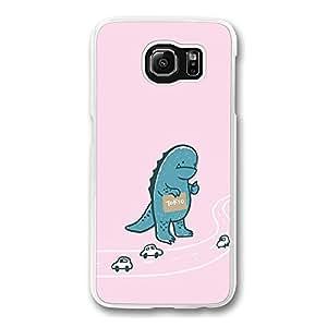 Samsung Galaxy S6 Edge, Samsung S6 Edge Case - Crystal Clear Slim Fit Hard Case for Samsung Galaxy S6 Edge Tokyo Godzilla Drop Protection Clear Case for Galaxy S6 Edge