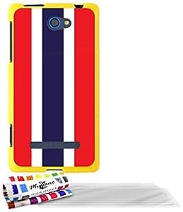 """Carcasa Flexible Ultra-Slim HTC 8S de exclusivo motivo [Bandera Tailanda ] [Amarillo] de MUZZANO  + 3 Pelliculas de Pantalla """"UltraClear"""" + ESTILETE y PAÑO MUZZANO REGALADOS - La Protección Antigolpes ULTIMA, ELEGANTE Y DURADERA para su HTC 8S"""
