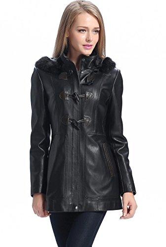 - BGSD Women's Amanda New Zealand Lambskin Leather Toggle Coat - L