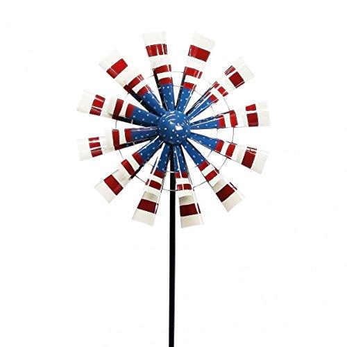 (Alpine Corporation NCY328S Patriotic Metal Windmill, Small, Multicolor)