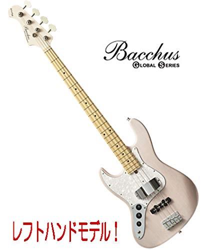 レフトハンド/左きき用ジャズベース|Bacchus Global Series/WL-434/M-LH S-SW-MH (シースルーホワイト) / メイプル指板 バッカスエレキベース   B07L84Y56M