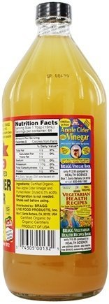 Bragg Organic Raw Apple Cider Vinegar, 32 Ounce - 1 Pack