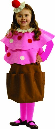 Sweet Little Creamy Cupcake Costume By Dress Up America Size Small -
