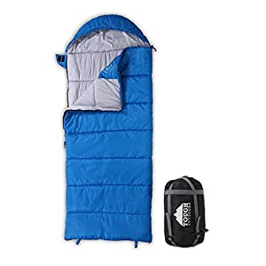 All Season Kids Sleeping Bag Perfect For Childrens Camping Backpacking Sleepovers Fits Girls Boys Teens Up To 51 Lightweight Compact Tough Ripstop Waterproof Shell High Loft Fill