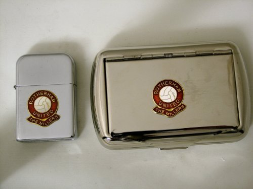 fan products of Soccer Club - Rotherham United Petrol Lighter & Tobacco Tin