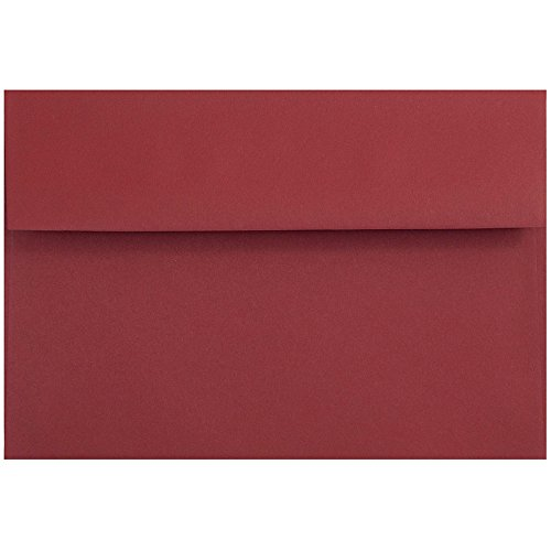 - JAM PAPER A8 Premium Invitation Envelopes - 5 1/2 x 8 1/8 - Dark Red - 50/Pack