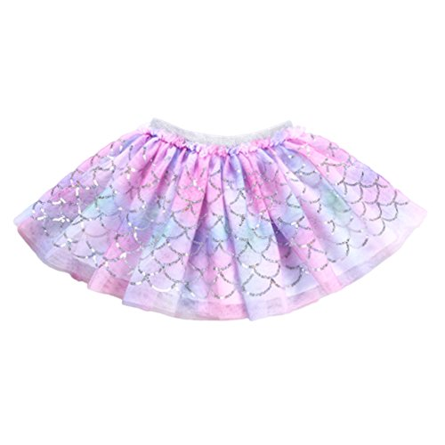YOHA Baby Girls Tutu Dress Pom Pom Balls Soft Tulle Tutu Dress for Toddler Girls(Mermaid,110)