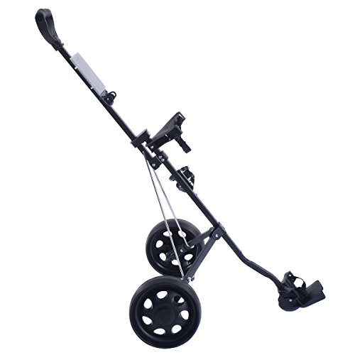COLIBROX--New Foldable 2 Wheel Push Pull Golf Cart /Cup Holder Trolley Swivel Steel Light. pull carts walmart. costway golf cart. best golf pull carts for sale. golf pull carts amazon. by COLIBROX (Image #2)