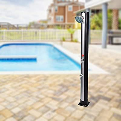 Festnight Outdoor Solar Shower with Shower Head and Faucet Patio Shower 9.25 Gallon
