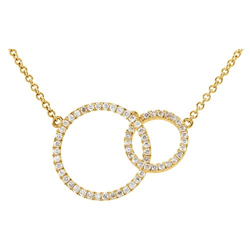 - Jewels By Lux 14K Yellow Gold 1/3 CTW Diamond Circle 18