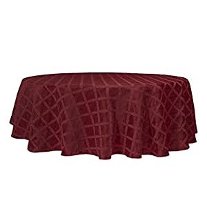Amazon Com Lenox Laurel Leaf 70 Quot Round Tablecloth
