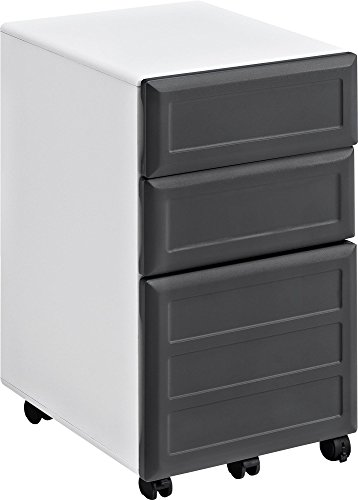 Gray Mobile File Cabinet (Altra Pursuit Mobile File Cabinet, White/Gray)