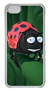 iPhone 5C Case and Cover - Hand-Painted Ladybug Custom PC Case Cover For iPhone 5C - Tranparent