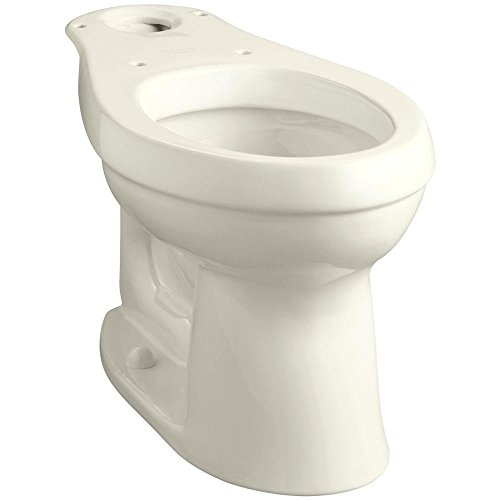 KOHLER K-4309-96 Cimarron Comfort Height Elongated Toilet Bowl with Class Five Flushing Technology, Biscuit