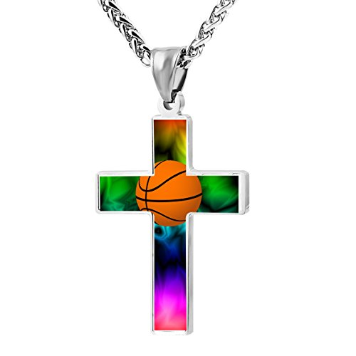 Cross Religious Jewelry Pendant Ornament Necklace 2000px-Basketball_Clipart.svg