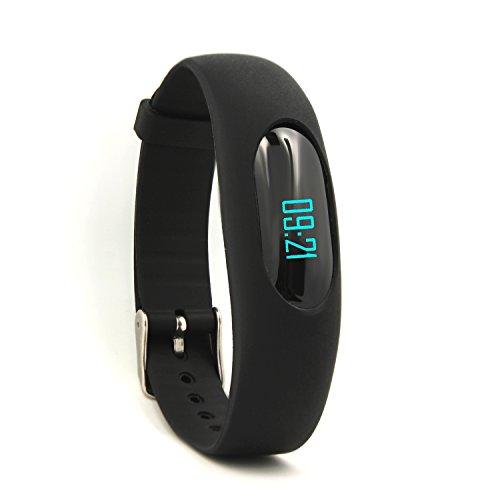 YAMAY® Sport Smart Armband Schrittzähler Uhr Fitness Tracker Aktivitätstracker mit Zeit, Datum,Schritt Rekord,Kalorienzähler,Laufleistung/Geschwindigkeit,Sport-Zeit, Schlafmonitor(Ohne Bluetooth)