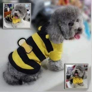 S Pet Dog Cat Clothes Coat Puppy Rabbit Polar Fleece Hoodie Outfits Bee Style