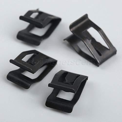 (Interior Accessories Rrd 10Pcs Auto Car Front Console Dash Dashboard Trim Metal Retainer New Black Universal for Buick Cruze)