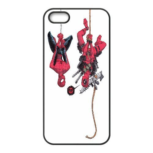 [[Deadpool Series] IPhone 5,5S Case Awesome Deadpool - Black] (Bike Lane Costume)