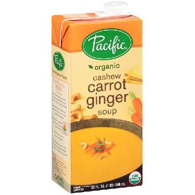 Pacific Foods Organic Cashew Carrot Ginger Soup, 32 Ounce - 12 per case. by Pacific Foods