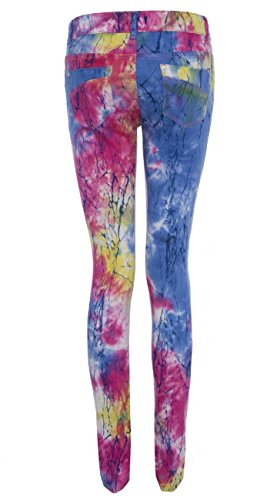 SS7 Damen Neon Hell Rainbow Spritzer Jeans, Größen 6 bis 16 Neon Spritzer