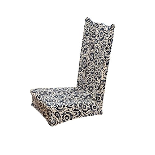 Chair Cover, Creazy Universal Stretch Spandex Dining Room Wedding Banquet Chair Cover Slip Cover (E)