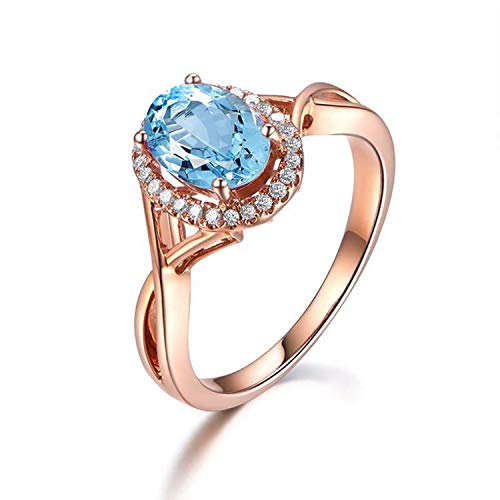 Gnzoe Jewelry-925 Sterling Silver Women Vs Engagement Ring Blue Created-Topaz December Birthstone Size 11 Created Citrine Stainless Steel Ring