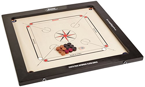 Surco Vintage Carrom Board with Coins and Striker, 8mm by Surco