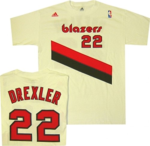 Clyde Drexler Portland Trailblazer White Throwback 1989 Shirt (Brandon Roy Jersey)