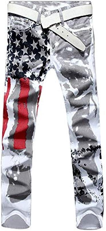 Guiran męskie dżinsy Slim Fit Strech Skinny dżinsy spodnie Denim: Odzież
