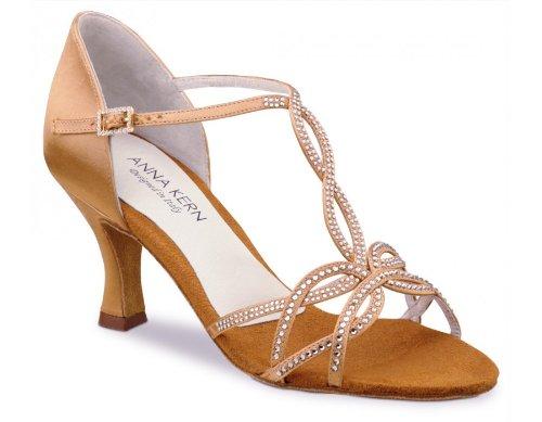 Anna Kern Women's Model 919 - 2 1/2'' (6.0 cm) Flare Heel, Bronze Satin,6 M US (3 UK)