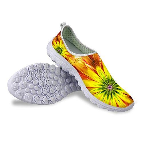 Per Te Disegni Moda Slip Slip On Mesh Walking Scarpe Da Corsa Per Donna Fiore 9