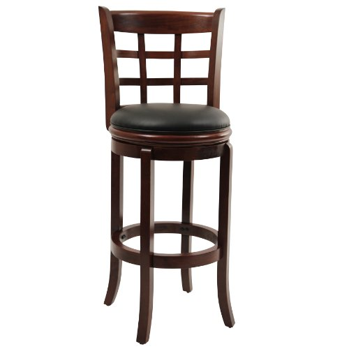 Boraam 41229 Kyoto Bar Height Swivel Stool, 29-Inch, Cherry
