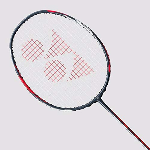 Yonex Duora 77 Badminton Racket (Red/White)(3UG4)(Strung with BG65@ 24lbs)